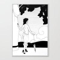 Art Nouveau Posters: The Entrance Canvas Print