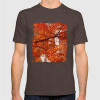 New York City Foliage Mens Fitted Tee Brown SMALL