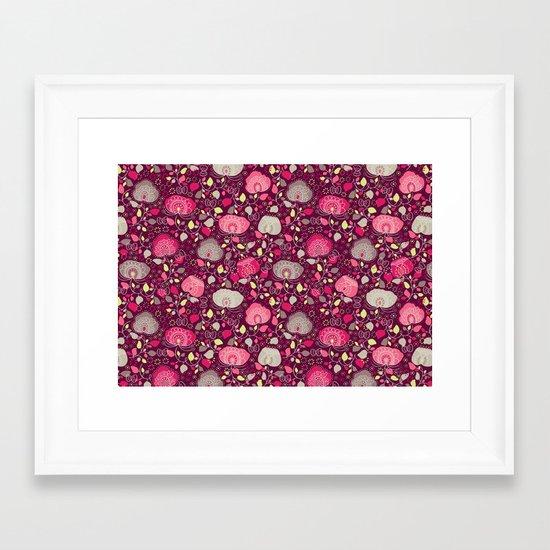 Fancy Floral Framed Art Print