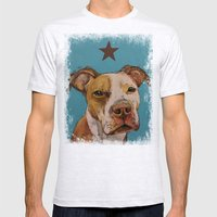 American Pit Bull Mens Fitted Tee Ash Grey SMALL