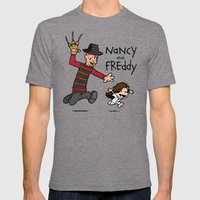 Nancy and Freddy Mens Fitted Tee Tri-Grey SMALL