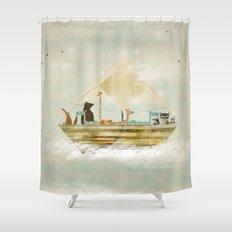 sky sailers Shower Curtain