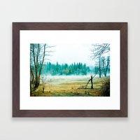 Yosemite Fog Framed Art Print