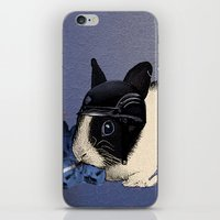 Blue Biker Bunny Print iPhone & iPod Skin