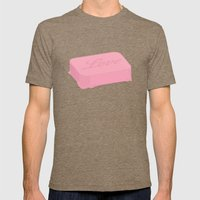 Love Bubbles Mens Fitted Tee Tri-Coffee SMALL