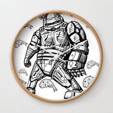 Robocop Robot Bear by RonkyTonk Wall Clock