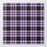 Purple Plaid Canvas Print