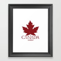 Team Foreign Canada Framed Art Print