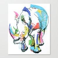 Rhino colour Canvas Print