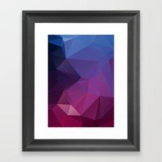 Artera – modern polygram illustration, wall art print Framed Art Print