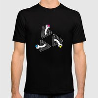 Cosmic Apples Mens Fitted Tee Black SMALL