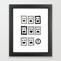 IQ Question /sketch/ Framed Art Print