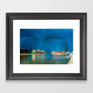 Snow Showers Over Moscow Framed Art Print
