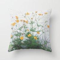 Yellow + Purple Throw Pillow