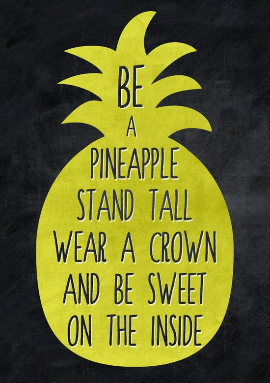 Be A Pineapple Art Print By Virginia Society6
