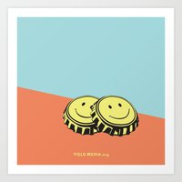 Two Happy Beers Art Print