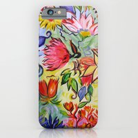 Pastel Flower Swirls iPhone 6 Slim Case