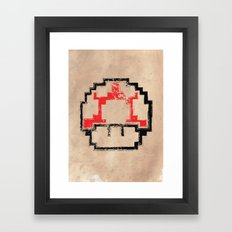 Super Mushroom Framed Art Print