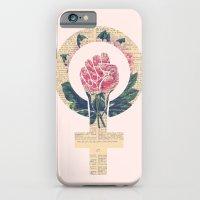 Respect, equality, women's liberation. Feminism Power Fist / Raised Fist iPhone 6 Slim Case