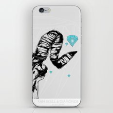 ram skull and diamonds iPhone & iPod Skin