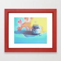 Silver VW Bus Framed Art Print