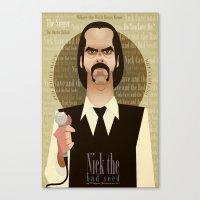Nick the Bad Seed Canvas Print