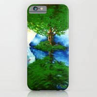 iPhone & iPod Case featuring Trees by Dolphin and Cow