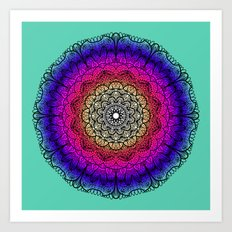 Mandala Colors Art Print