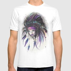 Violet Mens Fitted Tee White SMALL