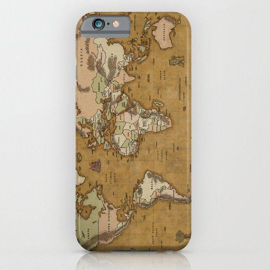 World Treasure Map iPhone & iPod Case