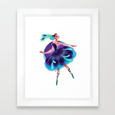 Peacock Tutu Framed Art Print