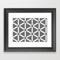 Wildeman Grey Pattern Framed Art Print