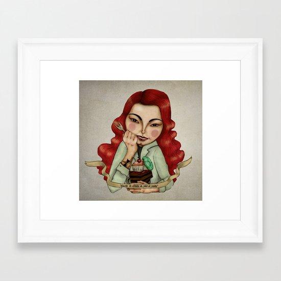 Diet Framed Art Print