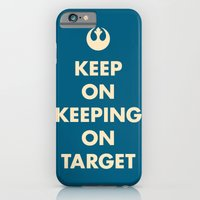 iPhone & iPod Case featuring Keep On Keeping On Target (Blue) by Zachary Burns