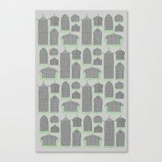 Birdcages (Gray) Canvas Print