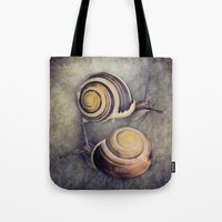 The Yin and Yang of snails .... Tote Bag