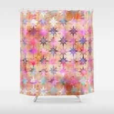 Bohemian Night Skye (Peach) Shower Curtain