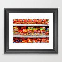 Snacks Framed Art Print