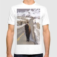 Montana Traffic Jam Mens Fitted Tee White SMALL