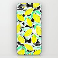 Bold Lemons Black iPhone & iPod Skin