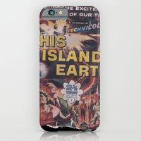 iPhone & iPod Case featuring This Island Earth: Pulped Fiction Edition by InvaderDig