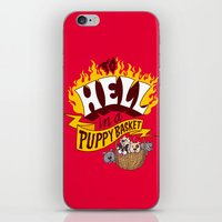 To Hell In A Puppy Baske… iPhone & iPod Skin
