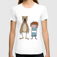 Pet Bear Womens Fitted Tee White SMALL