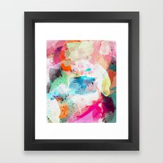 Abstract Color Paint Framed Art Print