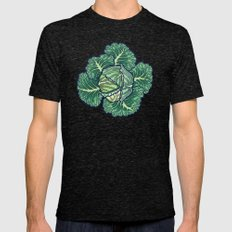 dreaming cabbages Mens Fitted Tee Tri-Black SMALL