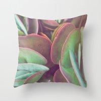Jade + Pink Throw Pillow