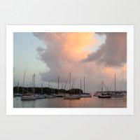 Marina V: Sunset Art Print