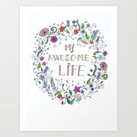 Awesome  Life Color Art Print