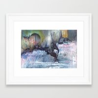 She Said It Was Just Cocaine Framed Art Print