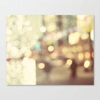 Bokeh in the City Canvas Print